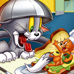 Пазл онлайн: Том и Джерри