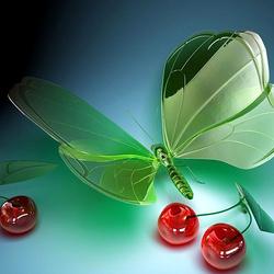 Пазл онлайн: Хрустальная бабочка
