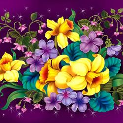 Пазл онлайн: Желтые цветы