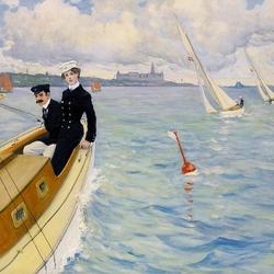 Пазл онлайн: На яхте