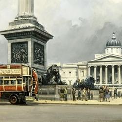 Пазл онлайн: Лондон, Трафальгарская площадь