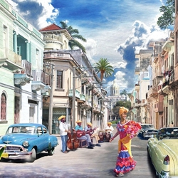 Пазл онлайн: Кубинские впечатления