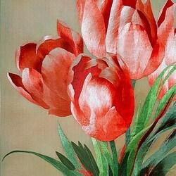 Пазл онлайн: Тюльпаны