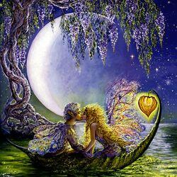 Пазл онлайн: Wisteria Moon/Лунная глициния