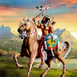 Пазл онлайн: Воин на коне