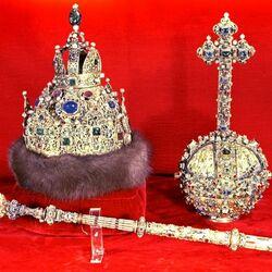 Пазл онлайн: Скипетр и держава «Большого наряда» царя Михаила Романова