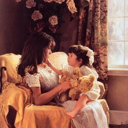 Пазл онлайн: Мать и дочь