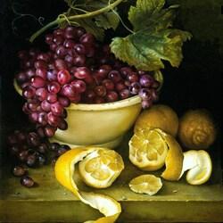 Пазл онлайн: Виноград и лимоны