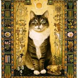 Пазл онлайн: Кошачий гороскоп (Телец)