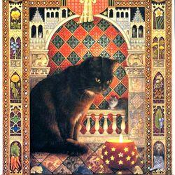 Пазл онлайн: Кошачий гороскоп (Дева)