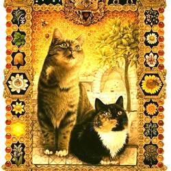 Пазл онлайн: Кошачий гороскоп (Лев)