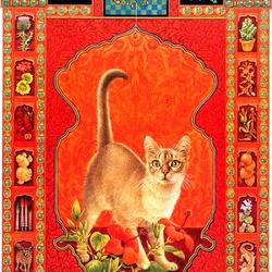 Пазл онлайн: Кошачий гороскоп (Скорпион)