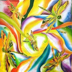 Пазл онлайн: Радужные стрекозы