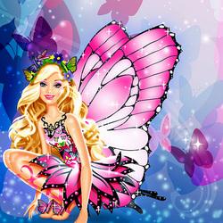 Пазл онлайн: Барби-бабочка