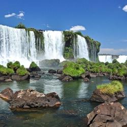 Пазл онлайн: Водопад Игуасу