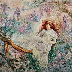 Пазл онлайн: Мечты яблоневого цвета