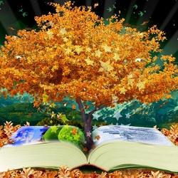 Пазл онлайн: Книга-древо знаний