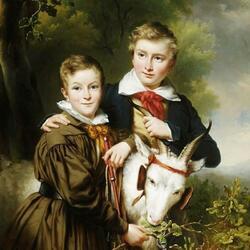 Пазл онлайн: Портрет Яна и Карла Веркаутерен