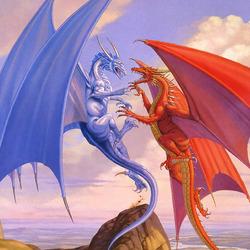 Пазл онлайн: Битва драконов