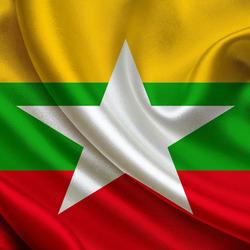 Пазл онлайн: Флаг Мьянмы