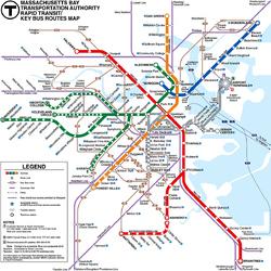 Пазл онлайн: Метро Бостона
