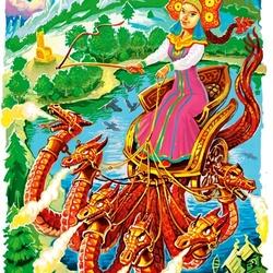 Пазл онлайн: Царевна и Змей-Горыныч