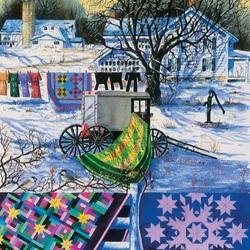 Пазл онлайн: Зимним днем