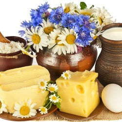Пазл онлайн: Деревенские продукты