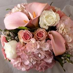 Пазл онлайн: Букет в розовом цвете