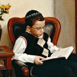 Пазл онлайн: Мальчик с книгой