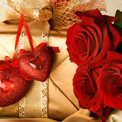 Пазл онлайн: С праздником, любимая!