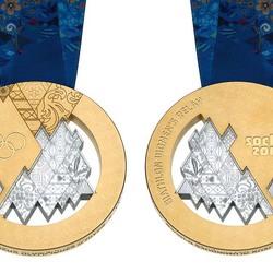 Пазл онлайн: Золотые олимпийские медали Сочи 2014