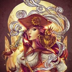 Пазл онлайн: Пиратка стимпанк