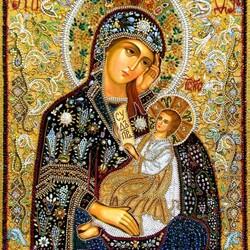 Пазл онлайн: Икона Божией Матери «Утоли моя печали»
