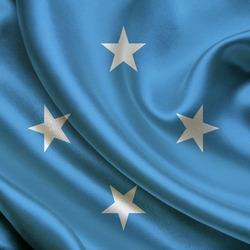 Пазл онлайн: Флаг Микронезии