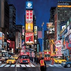 Пазл онлайн: Таймс-сквер