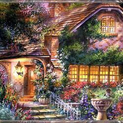 Пазл онлайн: Сказочный домик