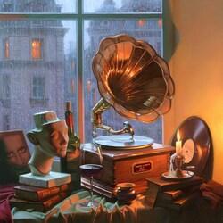 Пазл онлайн: Мелодия дождя