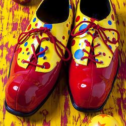 Пазл онлайн: Ботинки клоуна