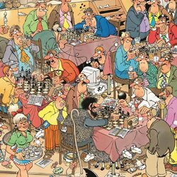 Пазл онлайн: Шахматный клуб