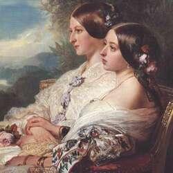 Пазл онлайн: Королева Виктория и герцогиня де Немур