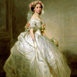 Пазл онлайн: Принцесса Алиса в свадебном платье