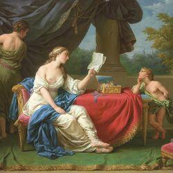 Пазл онлайн: Пенелопа читает письмо Одиссея