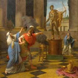 Пазл онлайн: Александр просит совета у оракула Аполлона
