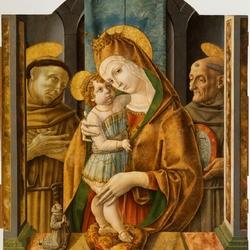 Пазл онлайн: Мадонна с младенцем и святыми