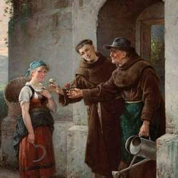 Пазл онлайн: У ворот монастыря