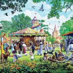 Пазл онлайн: Сельская ярмарка