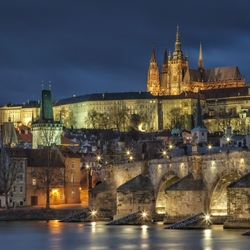 Пазл онлайн: Ночная Прага
