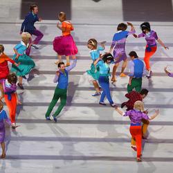 Пазл онлайн: Церемония открытия Сочи2014