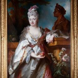 Пазл онлайн: Портрет дамы с персиками